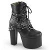 TORMENT-700 Black Vegan Leather